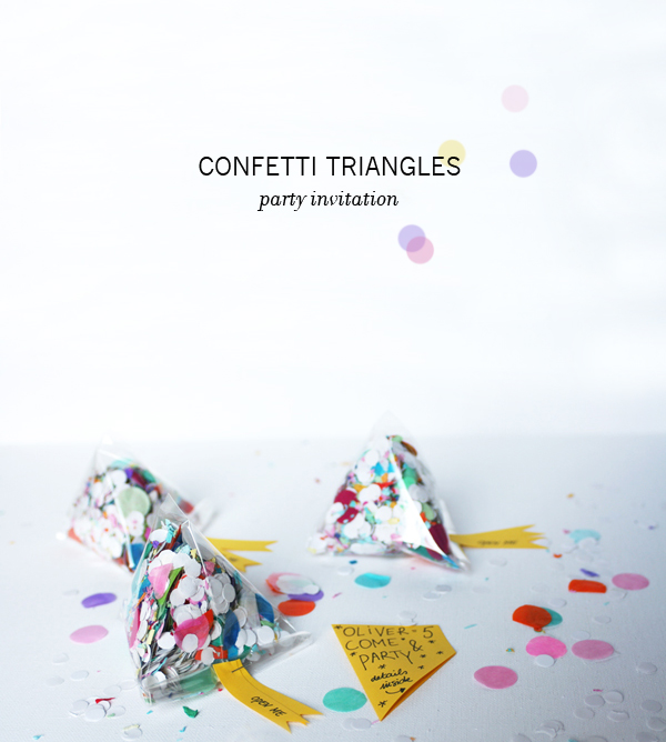 Confetti Triangle Invitations | Oh Happy Day!