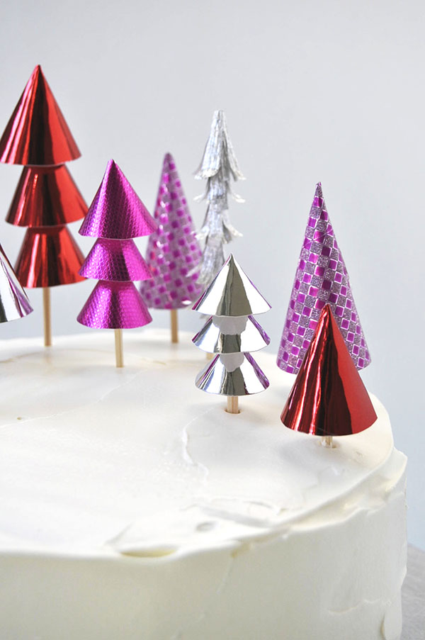 Christmas Forest Cake Topper | Oh Happy Day!