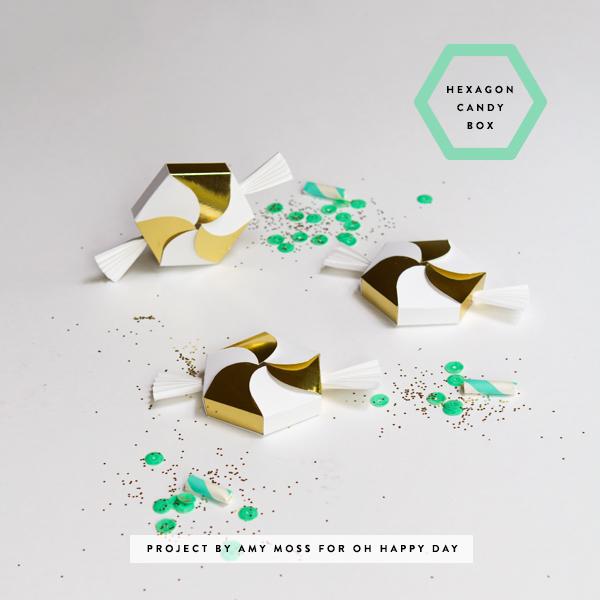 DIY Hexagon Candy Box