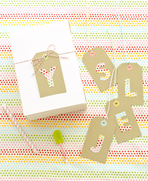 Fabric Letter Tags | Oh Happy Day!