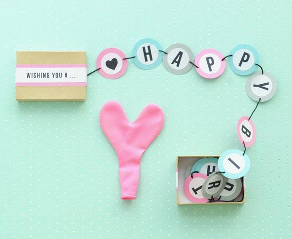 happy birthday banner box diy