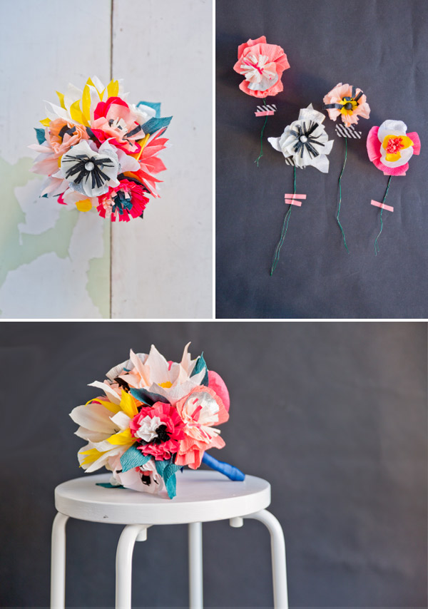 Paper Flower Bouquet DIY | Oh Happy Day!