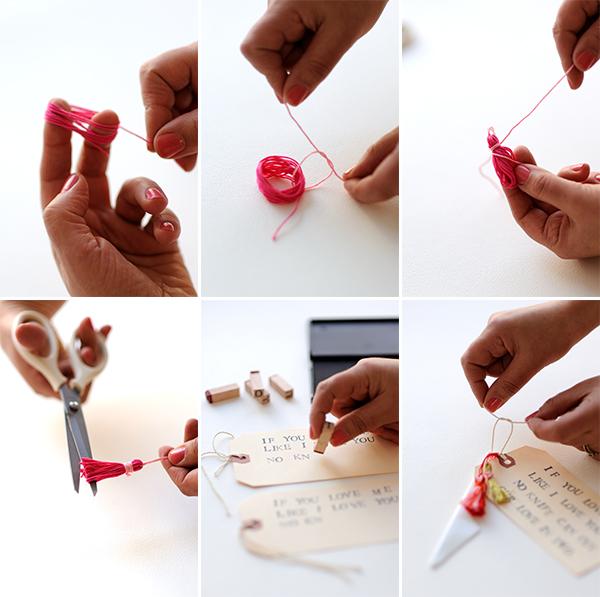 Valentine's Knife + Tassel DIY | Oh Happy Day!