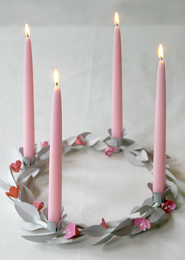 Valentine's Day Candle Centerpiece | Oh Happy Day!