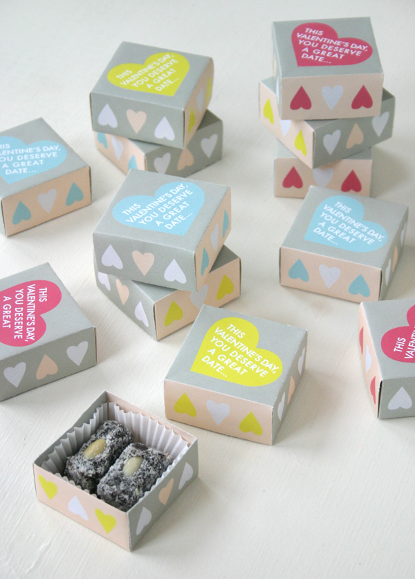 Valentine Treat Boxes with Free Printable   Oh Happy Day!