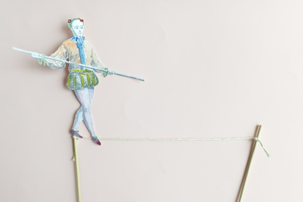 Tightrope Walker Cake Topper DIY | Oh Happy Day!