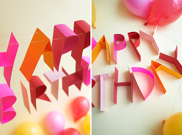 Completely new 3D Birthday Banner DIY MZ42