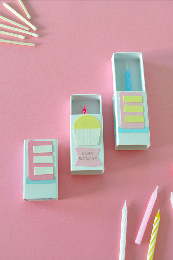 crafts cards ideas matchbox birthday card 1748