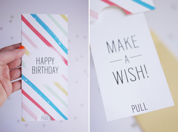 Printable Birthday Pull Card