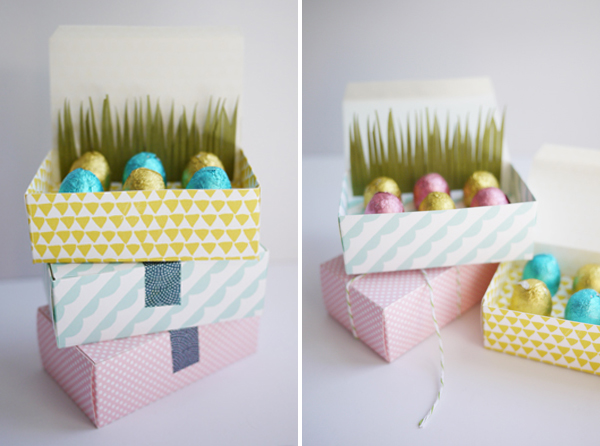 Printable Mini Easter Egg Treat Boxes | Oh Happy Day!