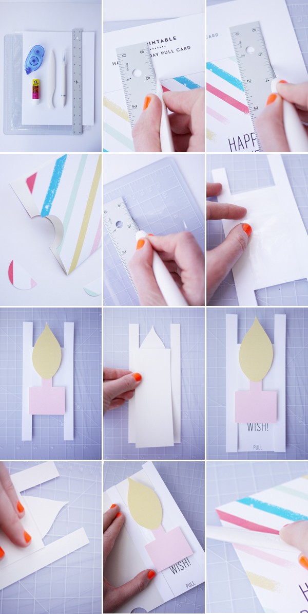 how to make handmade birthday cards step by step printable birthday pull card 3826