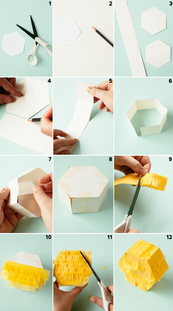 DIY Hexagon Pinata Favors   Oh Happy Day!