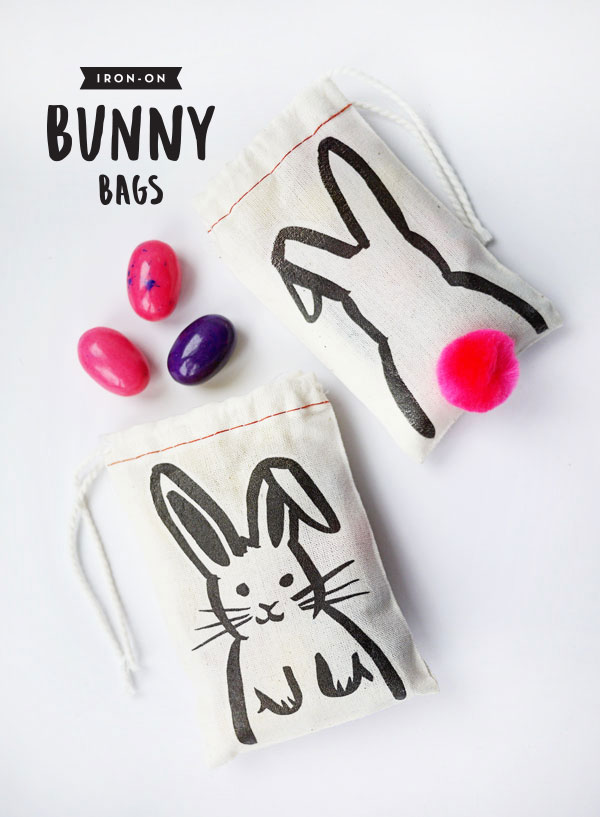 Printable Iron-on Bunny Bags | Oh Happy Day!