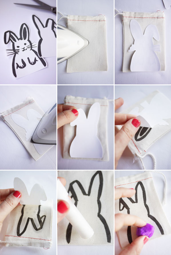 photo relating to Printable Iron on titled Printable Iron-upon Bunny Luggage