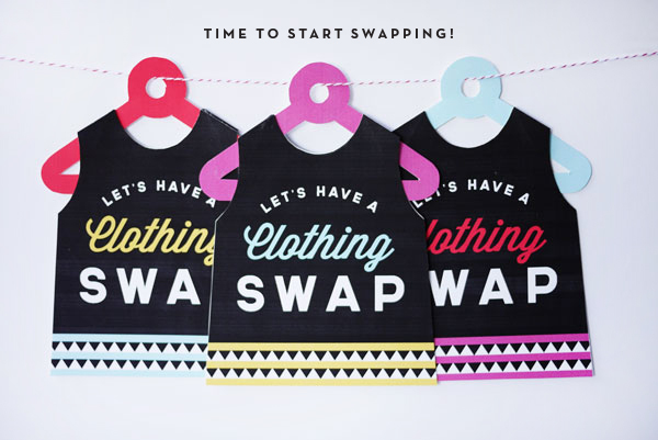Printable Clothing Swap Invites | Oh Happy Day!