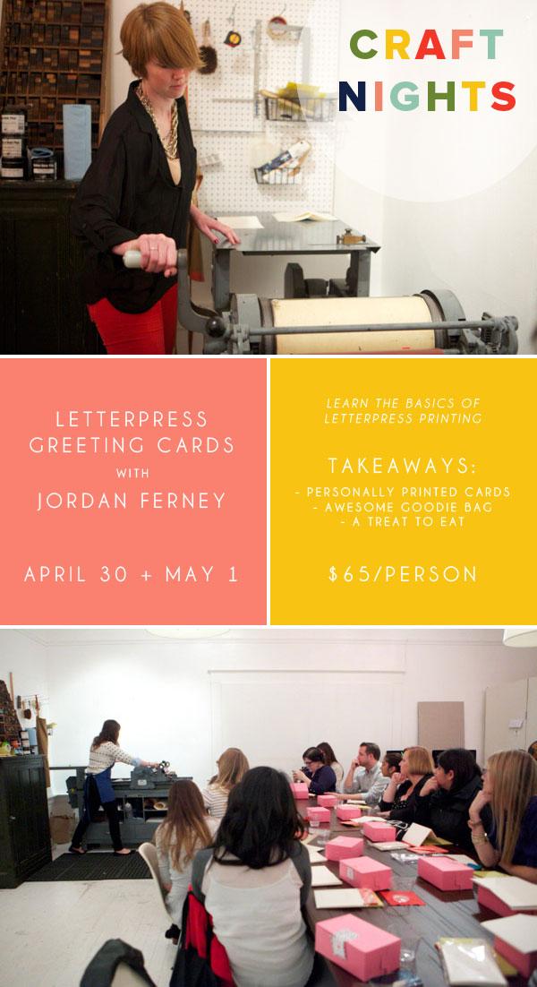 Letterpress Craft Night | Oh Happy Day!