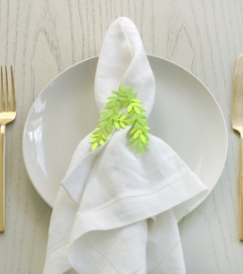 Punched Leaf Napkin Rings   Oh Happy Day!