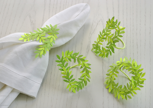 Punched Leaf Napkin Rings | Oh Happy Day!