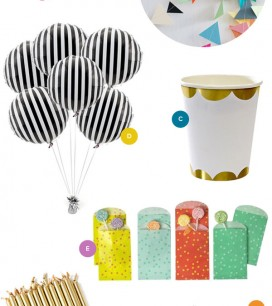 Pretty Party Supplies   Oh Happy Day!