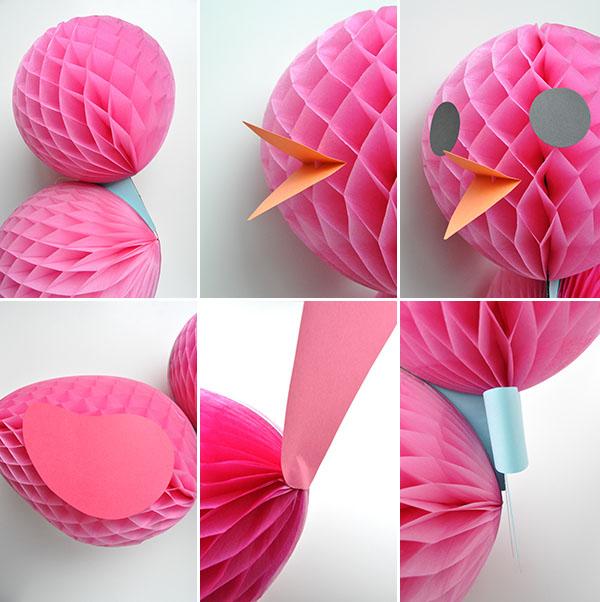 DIY Honeycomb Birds | Oh Happy Day!