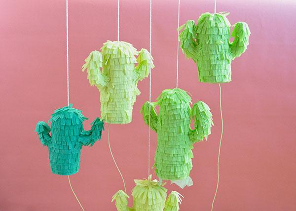 Mini Cactus Piñatas | Oh Happy Day!