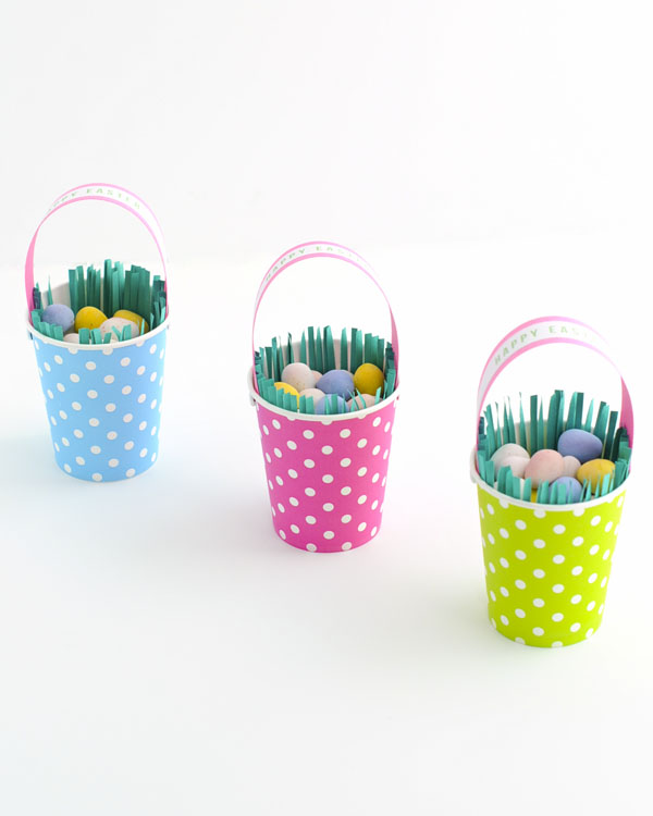 Paper Cup Easter Basket Diy