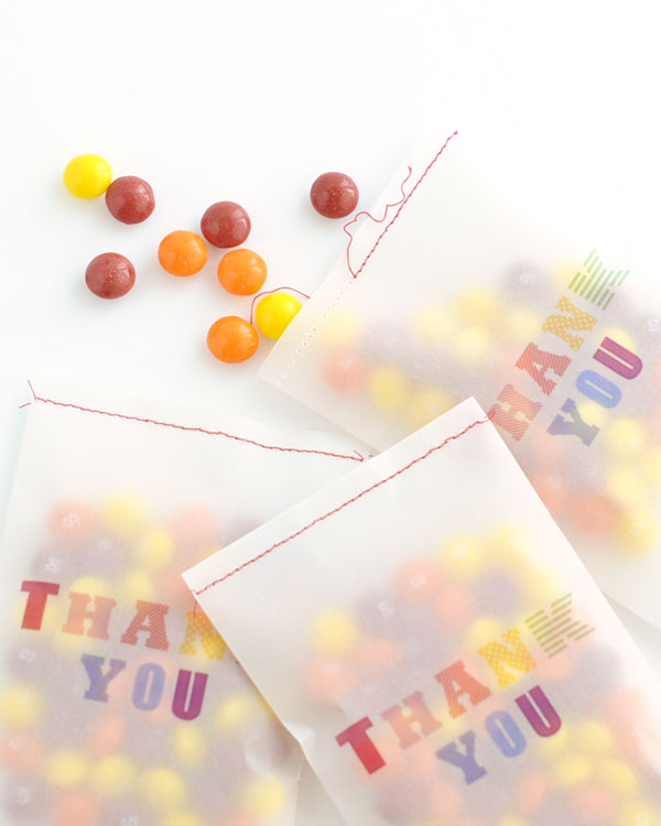 Vellum Thank You Bag Printable | Oh Happy Day!