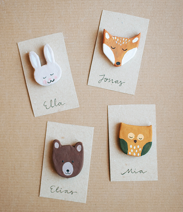 Woodland Party DIY Woodland Creature Favors | Oh Happy Day!