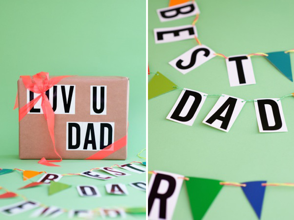 Father's Day Hardware Store Garland DIY | Oh Happy Day!