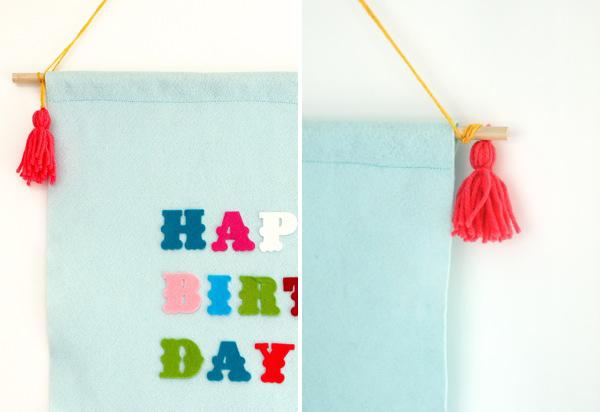 Felt Birthday Banner DIY | Oh Happy Day!