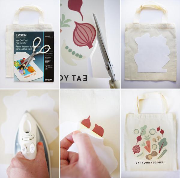 Iron-On Veggie Bags | Oh Happy Day!