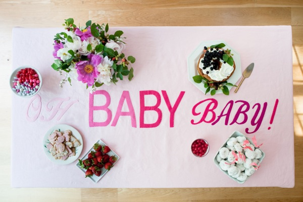 Oh Baby Tablecloth DIY | Oh Happy Day!