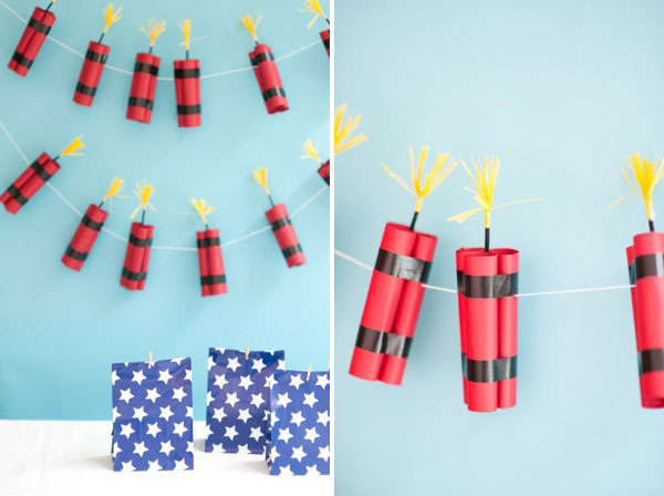 4th of July Dynamite Garland DIY | Oh Happy Day!