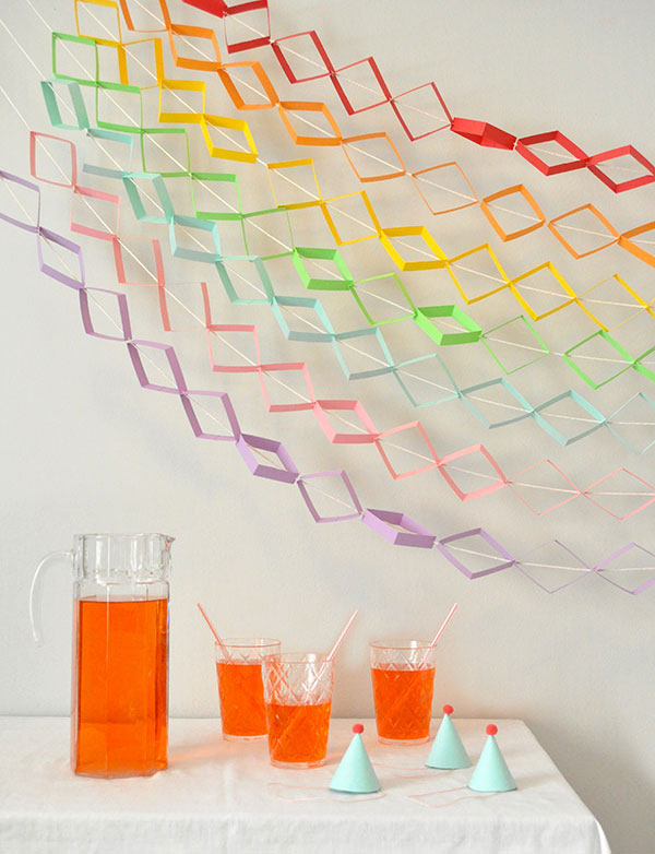 Geometric Rainbow Garland | Oh Happy Day!