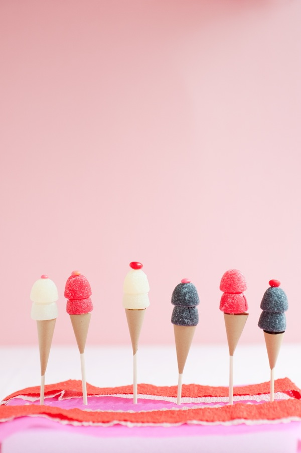 Gum Drop Ice Cream Cone Toppers DIY | Oh Happy Day!