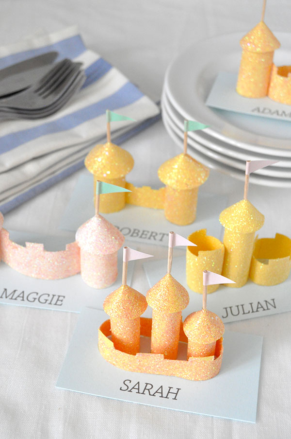 Sandcastle Place Cards | Oh Happy Day!