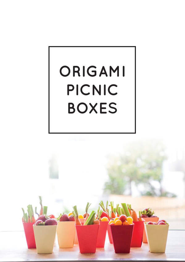Origami Picnic Boxes   Oh Happy Day