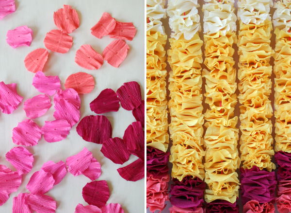 Crepe Paper Petals Wall Hanging | Oh Happy Day!