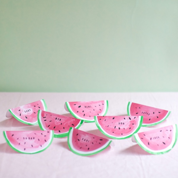 Watermelon Place Cards DIY | Oh Happy Day!