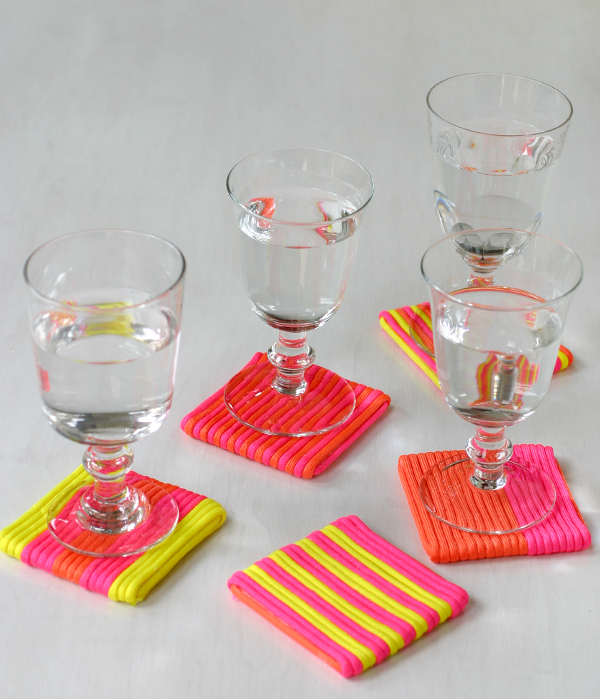 Neon Cord Party: Coaster   Oh Happy Day!