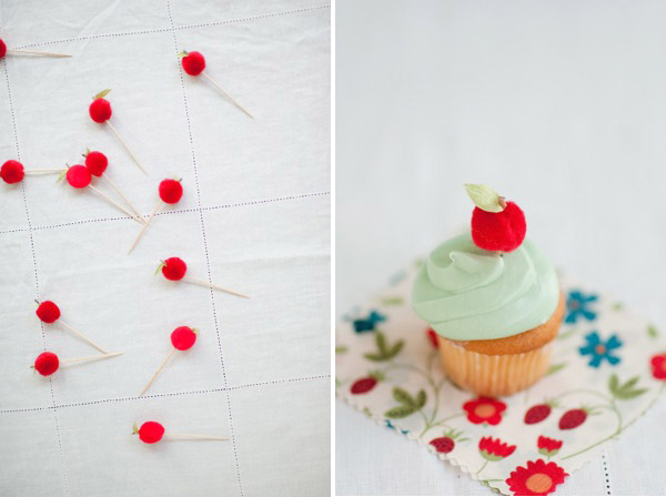 Back to School Apple Cupcake Toppers DIY   Oh Happy Day!