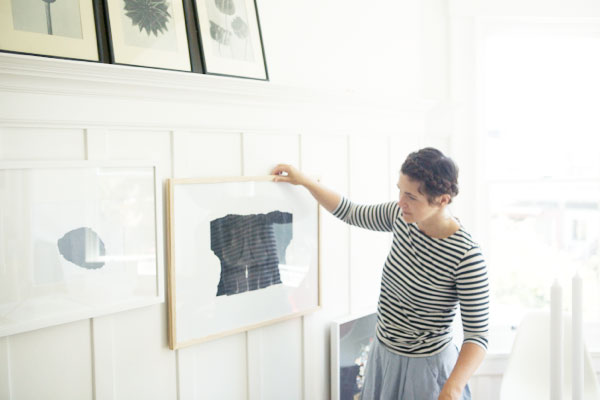 Hanging A Gallery Wall Without Nails | Oh Happy Day!
