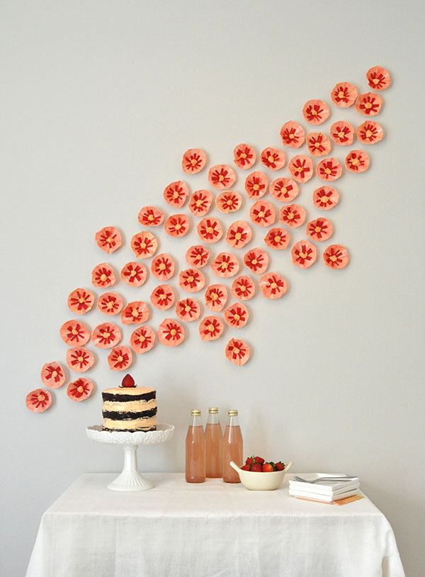 Favor Cup Paper Flowers | Oh Happy Day!