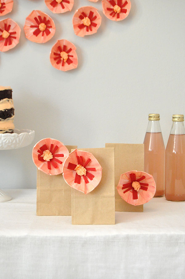 Favor Cup Paper Flowers   Oh Happy Day!