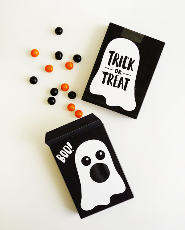 Printable Ghost Treat Box | Oh Happy Day!