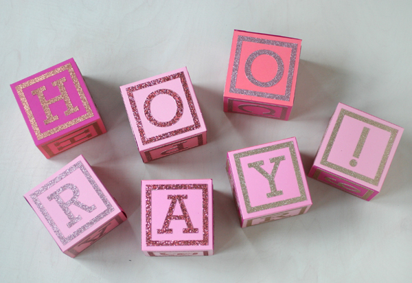 Giant Paper Alphabet Blocks | Oh Happy Day!