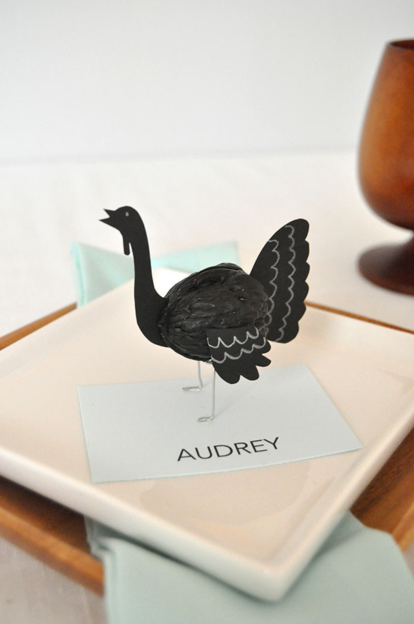 Walnut Turkey Placecards | Oh Happy Day!