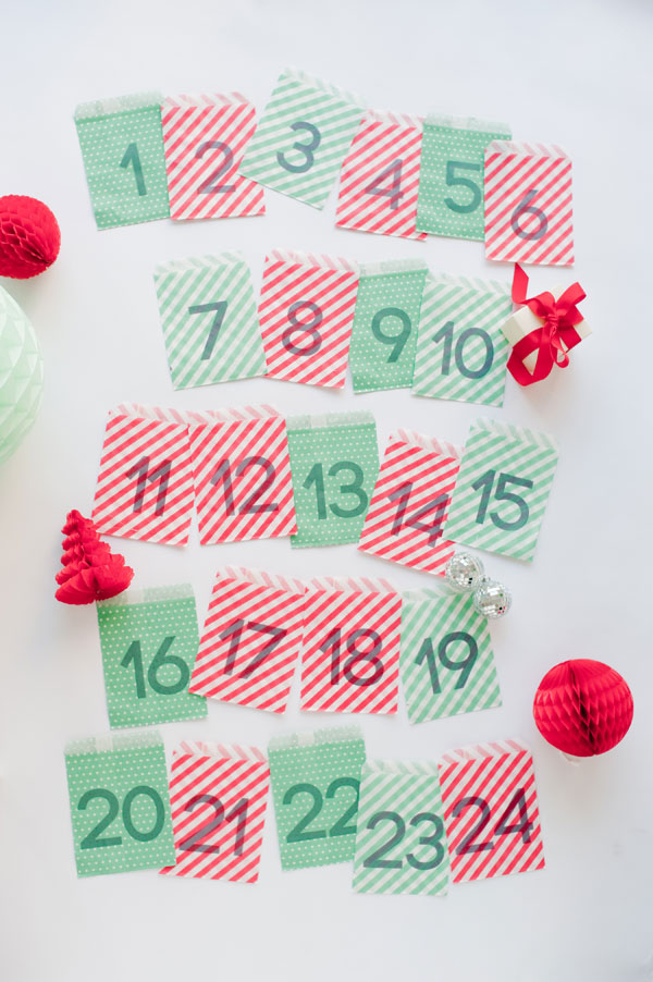 Paper Bag Advent Calendar | Oh Happy Day!