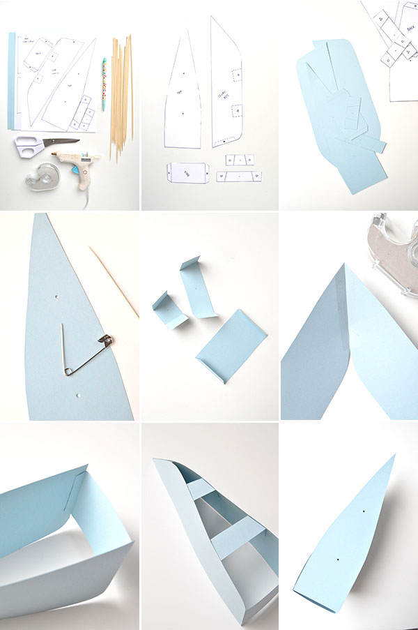 DIY Paper Boat Decorations