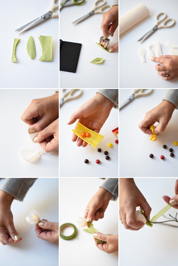 Crepe Paper Flower Advent Calendar DIY | Oh Happy Day!